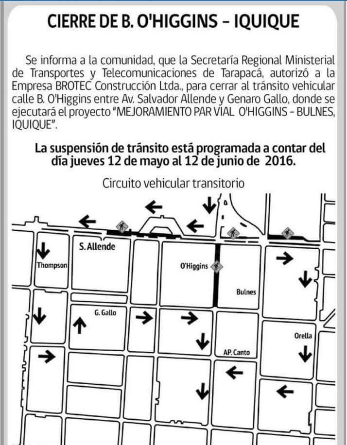 Photo of OJO! Este jueves cierran tramo Salvador Allende-Genaro Gallo de calle O'Higgins