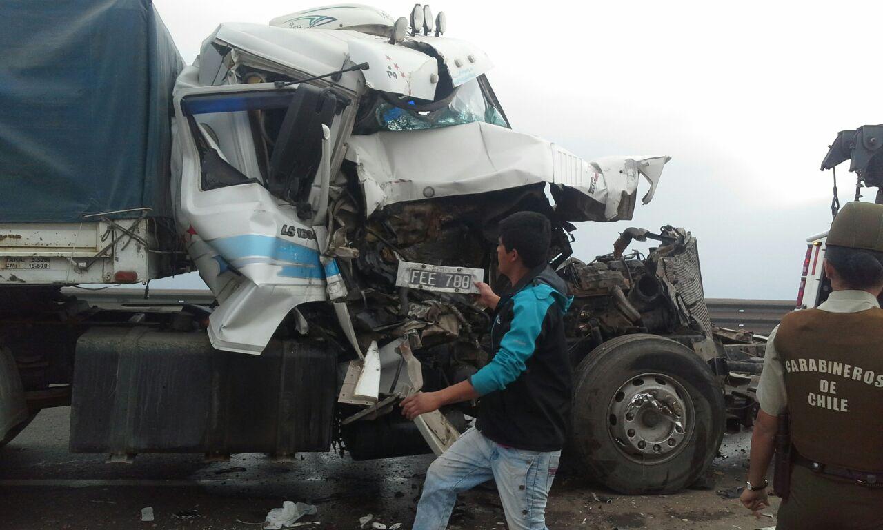 Photo of Conductor de camión herido tras accidente. Salvó de milagro