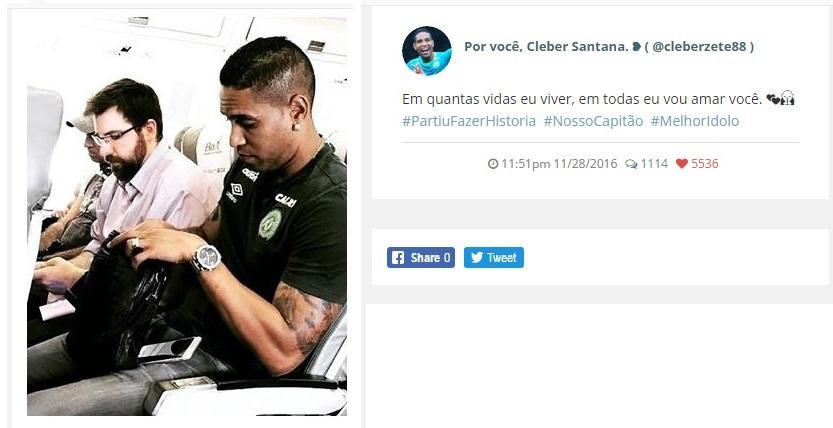 """Photo of """"En cuantas vidas yo viva, en todas te amaré"""": El mensaje dejado por un jugador del Chapecoense antes del accidente"""